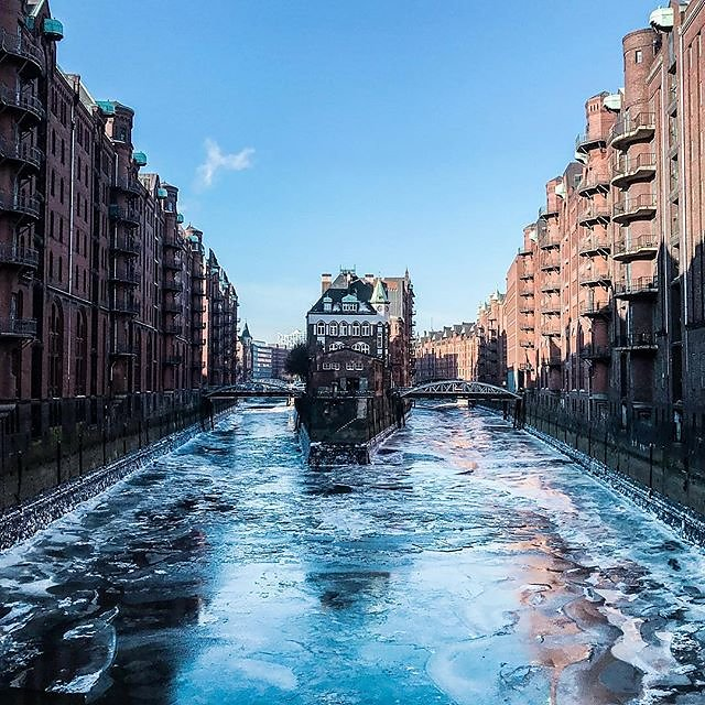 Hamburg on ice.